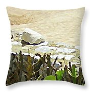 Mexican Stand Off Throw Pillow