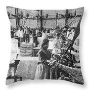 Mexican Textile Factory Throw Pillow