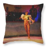 Mexican Traditional Dancers Throw Pillow