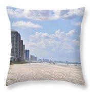 Mexico Beach Coastline Throw Pillow