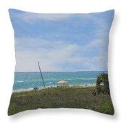 Mexico Beach Summer Throw Pillow