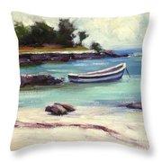 Mexico Beach Throw Pillow