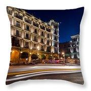 Mexico City At Night Throw Pillow