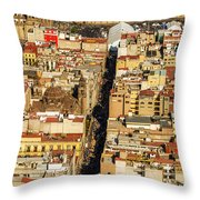 Mexico City Cathedral And Zocalo Throw Pillow by Jess Kraft