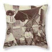 Mexico Market, C1915 Throw Pillow