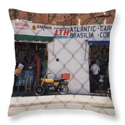 Mexico Tiendas Shops By Tom Ray Throw Pillow