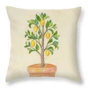 Meyer Lemon Tree Throw Pillow