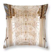 Mezquita Cathedral Ceiling In Cordoba Throw Pillow