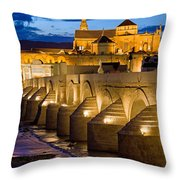 Mezquita Cathedral In Cordoba Throw Pillow