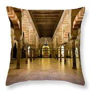 Mezquita Interior In Cordoba Throw Pillow