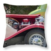 Mg Engine Throw Pillow