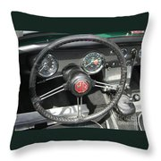 Mg Midget Instrument Panel Throw Pillow