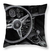Mg Midget Interior Bw Throw Pillow