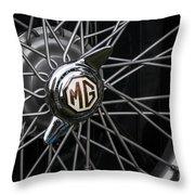 Mg Wheel Throw Pillow
