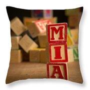 Mia - Alphabet Blocks Throw Pillow