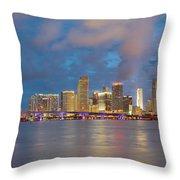 Miami - The Magic City Throw Pillow