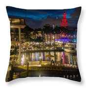 Miami Bayside And Freedom Tower Throw Pillow