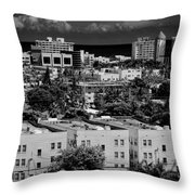 Miami Beach - 0156bw Throw Pillow