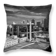 Miami Beach-0152bw Throw Pillow