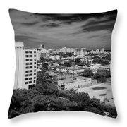 Miami Beach - 0153bw Throw Pillow