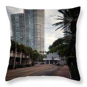 Miami Beach-0166 Throw Pillow