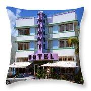 Miami Beach - Art Deco 37 Throw Pillow