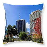 Miami Cityscape   Throw Pillow