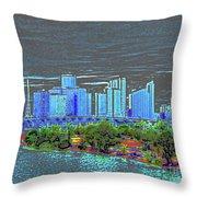 Miami Color Throw Pillow
