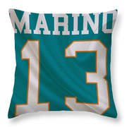 Miami Dolphins Dan Marino Throw Pillow