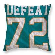 Miami Dolphins Undefeated Season Throw Pillow