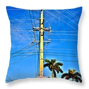 Miami Key West Throw Pillow
