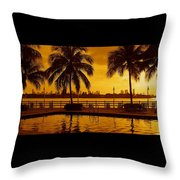 Miami South Beach Romance Throw Pillow