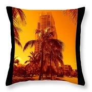 Miami South Pointe Iv Throw Pillow