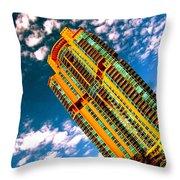 Miami South Pointe Throw Pillow