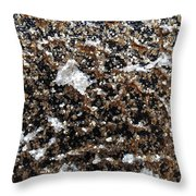 Mica Trial Gold With Pearl Throw Pillow