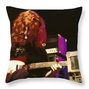 Michael Houser Throw Pillow by D Walton