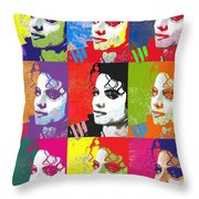Michael Jackson Andy Warhol Style Throw Pillow