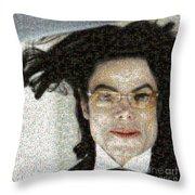 Michael Jackson - Fly Away Hair Mosaic Throw Pillow
