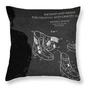 Michael Jackson Patent Throw Pillow