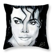 Michael Jackson Portrait Throw Pillow