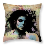 Michael Jackson - Scatter Watercolor Throw Pillow