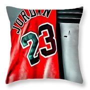 Michael Jordan 23 Shirt Throw Pillow