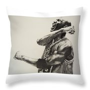 Michael Jordan Throw Pillow by Jake Stapleton