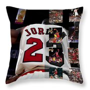 Michael Jordan Throw Pillow by Joe Hamilton
