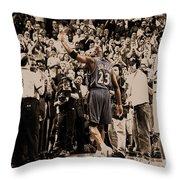 Michael Jordan Last Game II Throw Pillow