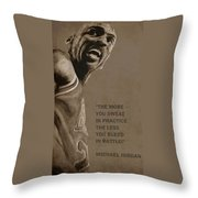 Michael Jordan - Practice Throw Pillow by Richard Tito