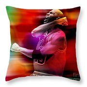 Michael Jordon Throw Pillow