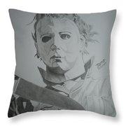 Michael Myers Throw Pillow