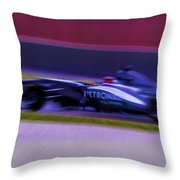 Michael Schumacher-2 Throw Pillow by Marvin Spates