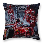 Michael Schumacher Out Of The Darkness Throw Pillow